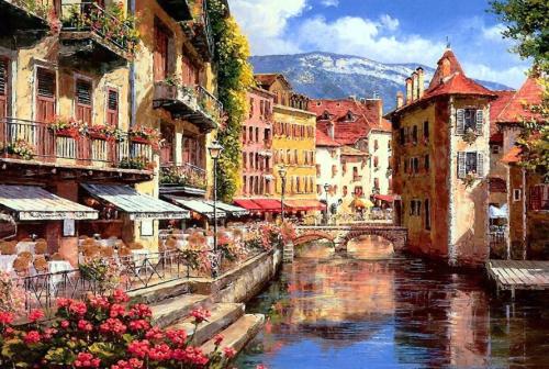 2021 Best Hot Sale Landscape Town Paint By Numbers Uk BN90434