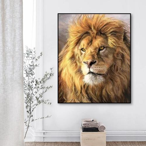 2021 Hot Sale Animal Lion Paint By Numbers Kits Uk VM80043