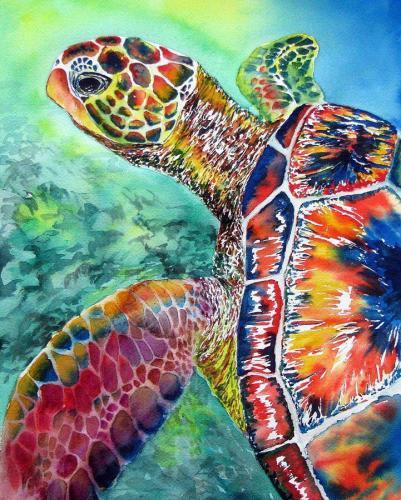 2021 Turtle Diy Paint By Numbers Kits Uk VM90134