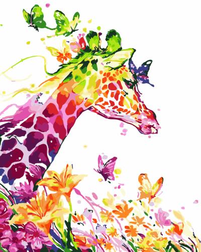 2021 Best Colorful Cute Cartoon Giraffe Diy Paint By Numbers Kits Uk WM909