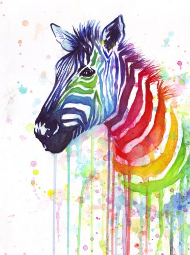 2021 Hot Sale Animal Colorful Zebra Paint By Numbers Uk BN90459