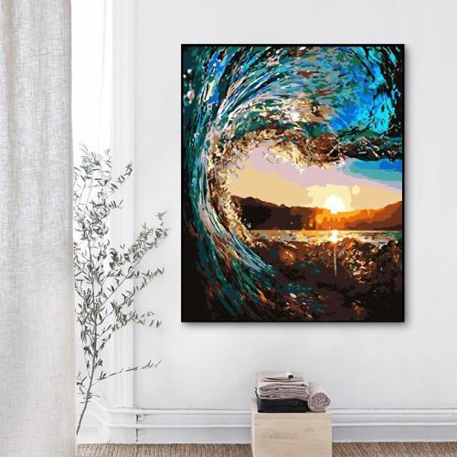 2021 Hot Sale Landscape Sea Paint By Numbers Kits Uk XZ156