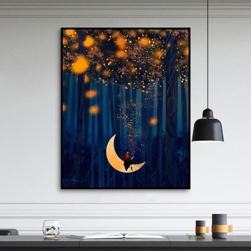 2021 New Arrival Hot Sale Moon Paint By Numbers Kits Uk VM90058