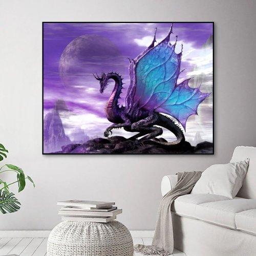 2021 Cartoon Flying Dragon Diy Paint By Numbers Kits Uk VM90017