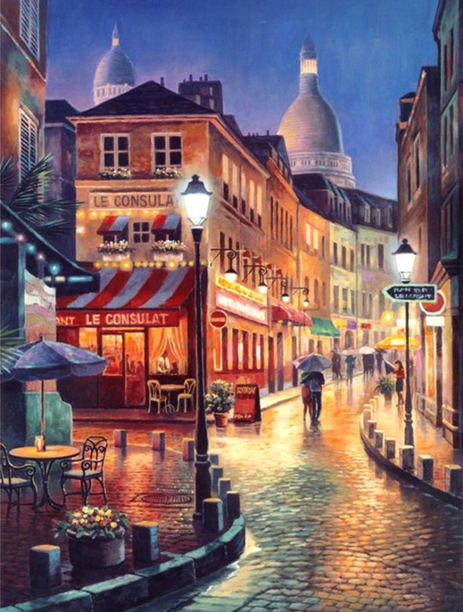 2021 New Hot Sale Landscape Street Paint By Numbers Uk BB997