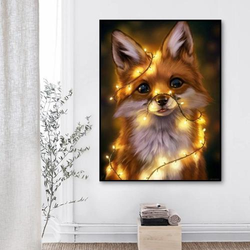 2021 Best Cute Animal Little Fox Paint By Numbers Kits Uk VM91634