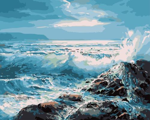 2021 Beautiful Landscape Sea Paint By Numbers Kits Uk WM225