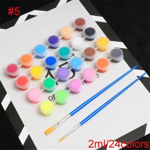 18/24 Colors Acrylic Paints With 2 Brushs Pigment Set ART6205