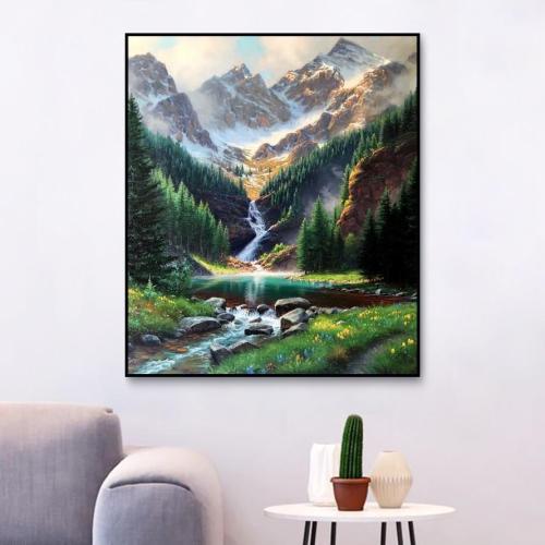 2021 Hot Sale Landscape Diy Paint By Numbers Kits Uk OTG6111