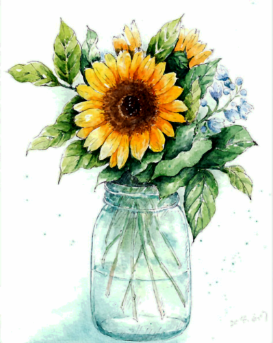 2021 New Arrival Hot Sale Sunflower Diy Paint By Numbers Kits Uk WM105