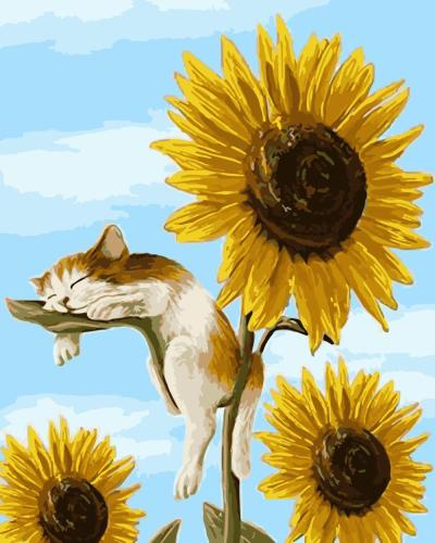 2021 Hot Sale Sunflower Paint By Numbers Kits Uk WM887