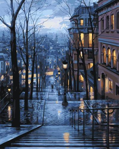 2021 New Arrival Hot Sale Landscape Street Paint By Numbers Kits Uk WM011