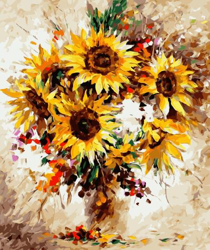 2021 Best Hot Sale Sunflower Paint By Numbers Kits Uk PH9316