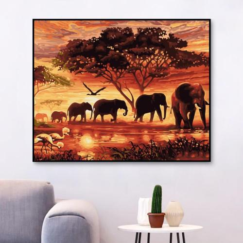 2021 New Arrival Elephant Diy Paint By Numbers Kits Best Hot Sale Uk WM715