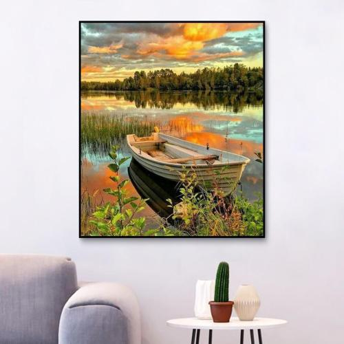 2021 Landscape Diy Painting By Numbers Art Kits Uk RA3039