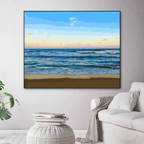 2021 New Hot Sale Landscape Sea Paint By Numbers Kits Uk WM1383