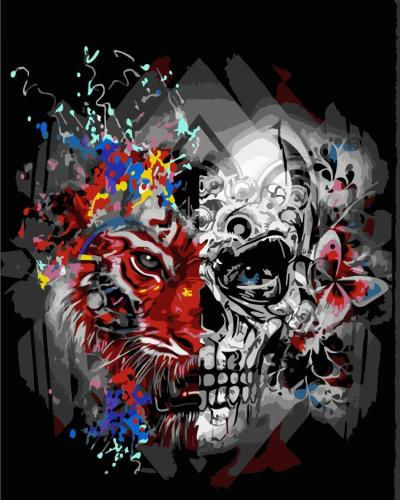 2021 New Arrival Hot Sale Skull Paint By Numbers Kits Uk WM691