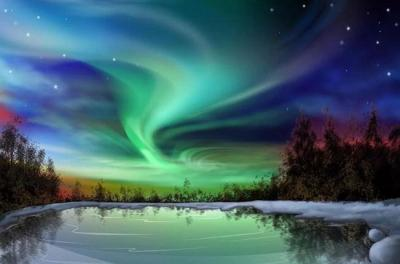 2021 Beautiful Landscape Night sky Paint By Numbers Kits Uk VM90788
