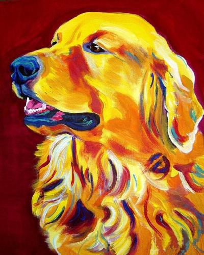 2021 Colorful Animal Dog Diy Paint By Numbers Kits Uk VM55362