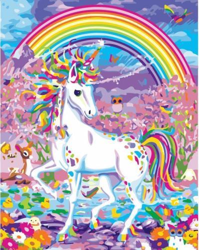 2021 Rainbow Unicorn Diy Paint By Numbers Kits Uk WM167
