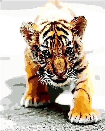 2021 Best Cute Cartoon Tiger Paint By Numbers Kits UK VM95728