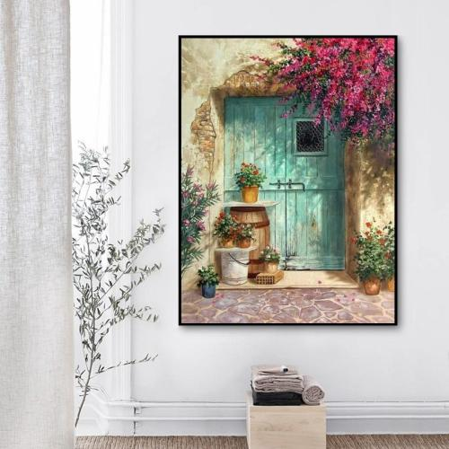 2021 Hand-Drawn Style Beautiful Garden Door Diy Paint By Numbers Kits Uk VM92131