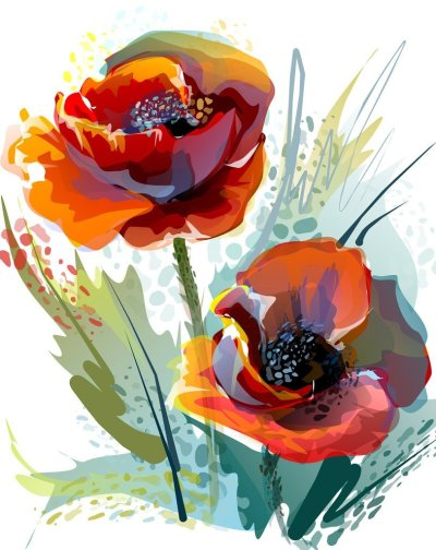 2021 Flowers In Watercolor Style Diy Paint By Numbers Kits Hot Sale UK VM97620