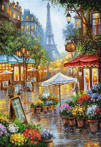 2021 Beautiful Landscape Eiffel Tower Paint By Numbers Kits Uk RA3376