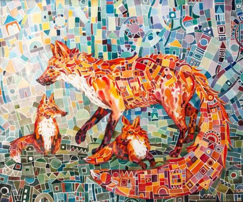 2021 Colorful Fox Diy Paint By Numbers Kits Hot Sale Uk VM30033