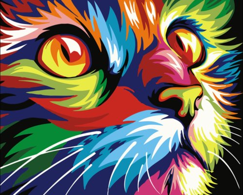 2021 Best Hot Sale Pet Colorful Cat Paint By Numbers Kits Uk VM00102