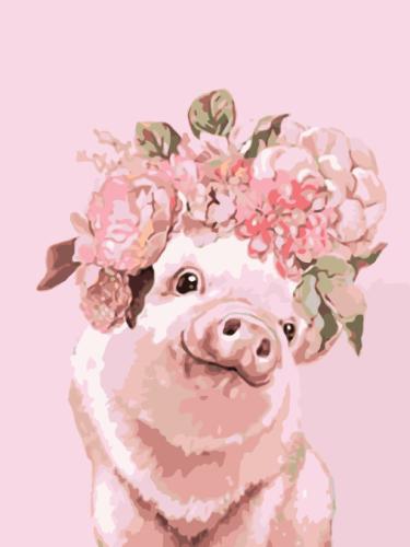 2021 Best Cute Cartoon Pig Paint By Numbers Kits Uk WM1603