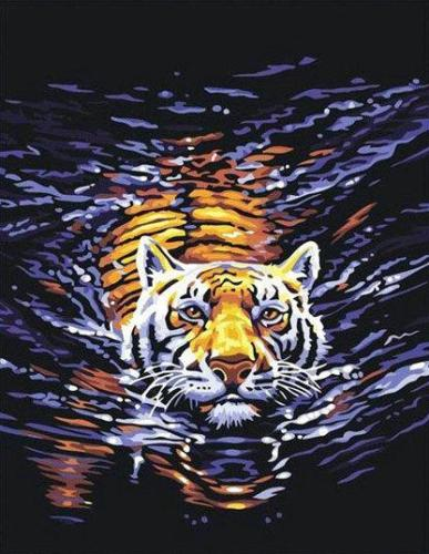 2021 Hot Sale Animal Tiger Diy Paint By Numbers Kits Uk YM037