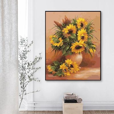 2021 New Hot Sale Sunflower Paint By Numbers Kits UK VM96092