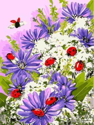 2021 Flower Paint By Numbers Kits Uk AN1905