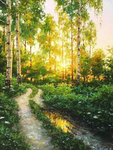 2021 Hot Sale Landscape Diy Paint By Numbers Kits Uk OTG6039
