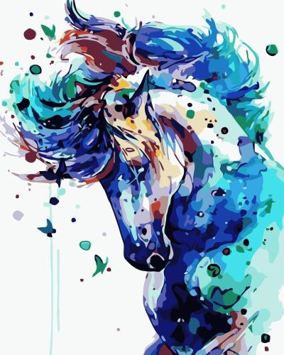 2021 Best Watercolor Style Horse Diy Paint By Numbers Kits Online Sale Uk WM158