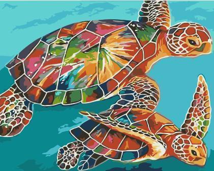 2021 Turtle Diy Paint By Numbers Kits Uk WM625