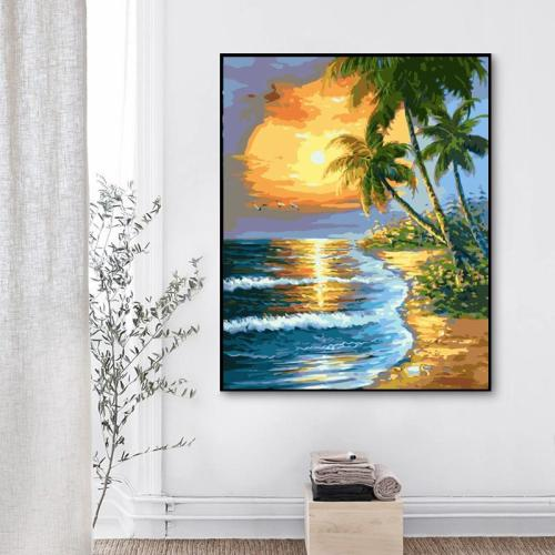 2021 Best Hot Sale Landscape Beach Paint By Numbers Kits Uk SY053