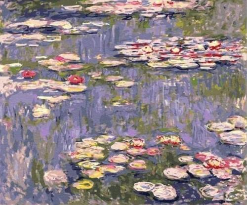 2021 Beautiful Claude Monet's Water Lily Diy Paint By Numbers Kits Uk VM91257