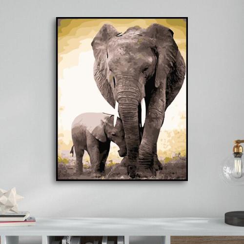 2021 New Hot Sale Elephant Diy Paint By Numbers Kits Uk WM712