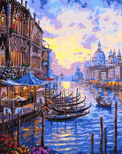 2021 Oil Painting Style Landscape City Diy Paint By Numbers Kits Hot Sale UK WM393