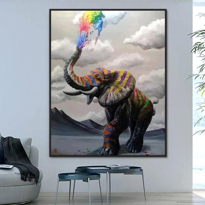 2021 Modern Art  Popular Animal Elephant Diy Paint By Numbers Kits Uk BN92292