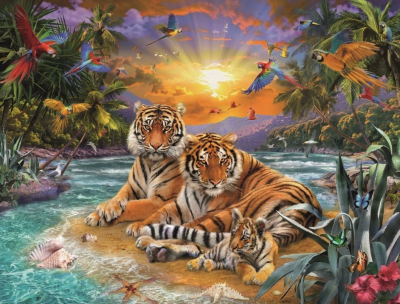 2021 Best Fantasy Style Animal Tiger Paint By Numbers Kits Uk VM90974
