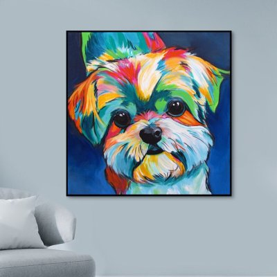 2021 New Arrival Color Animal Diy Paint By Numbers Dog Kits Hot Sale UK VM97966