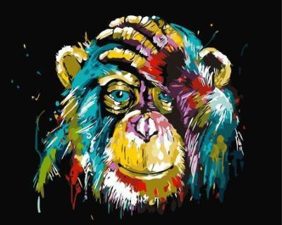 2021 Best Hot Sale Monkey Paint By Numbers Kits Uk WM734