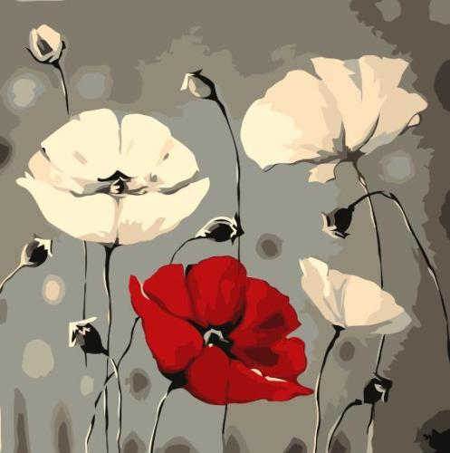 2021 Hot Sale Oil Painting Style Flower Diy Paint By Numbers Kits UK SY035