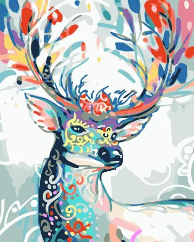 2021 Best Fantasy Style Deer Diy Paint By Numbers Kits New Hot Sale Uk WM1130