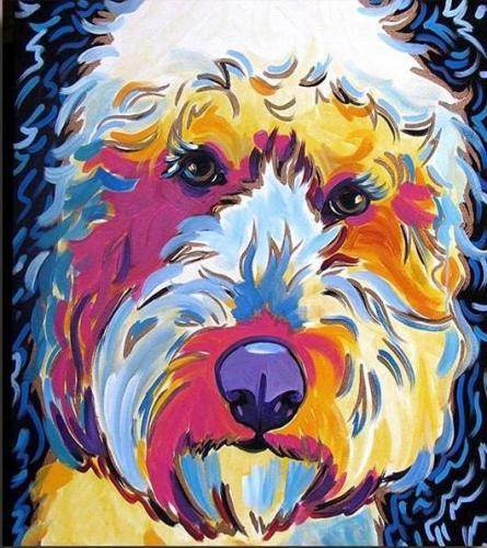 2021 Colorful Modern Art Dog Diy Paint By Numbers Kits UK VM97846