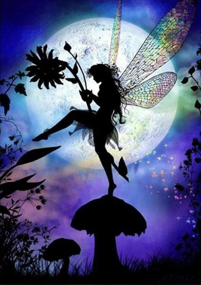 2021 Special Dream Beautiful Fairy Diy Paint By Numbers Kits Uk VM90150