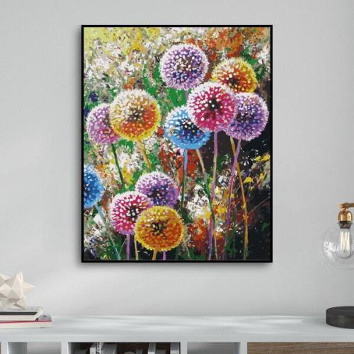 2021 New Arrival Hot Sale Dandelion Diy Paint By Numbers Kits Uk WM1533